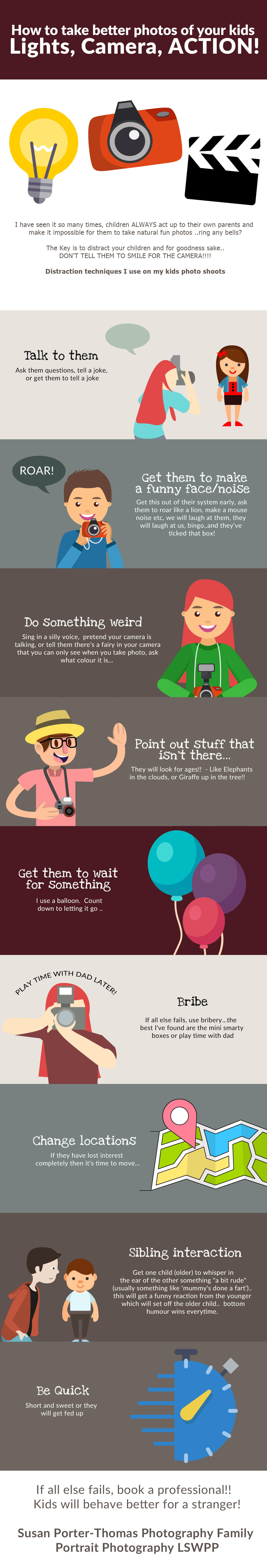 Photography tips info graphic