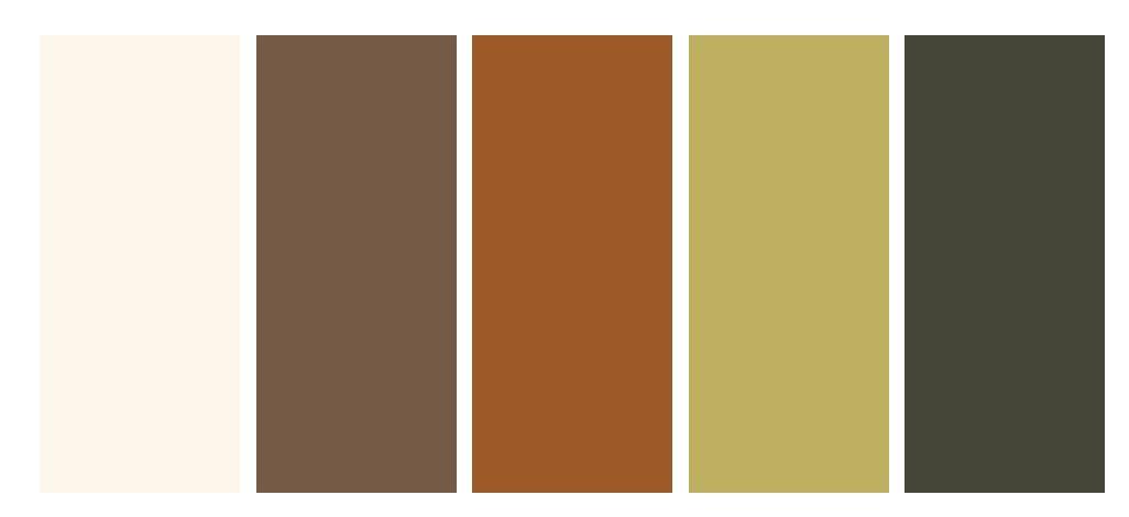 Autumn colour pallet