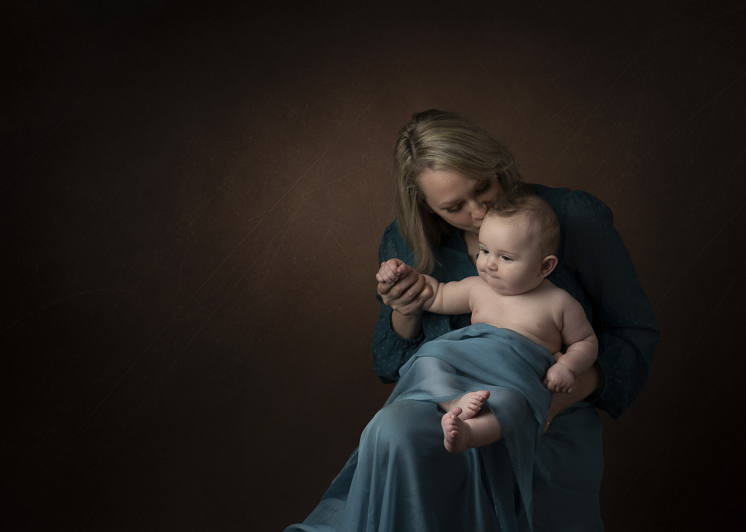 Mother and child portrait in the studio