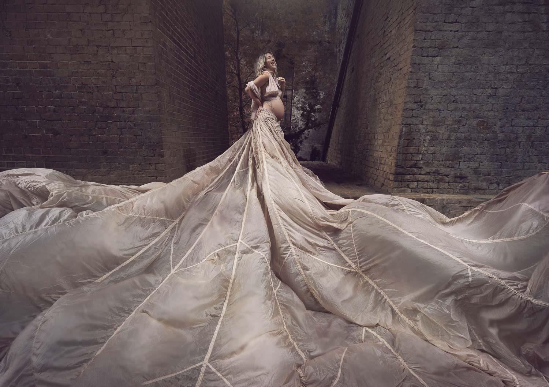 Parachute Dress photo shoot